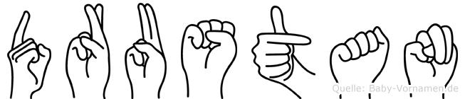 Drustan im Fingeralphabet der Deutschen Gebärdensprache