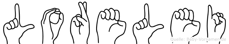 Lorelei im Fingeralphabet der Deutschen Gebärdensprache
