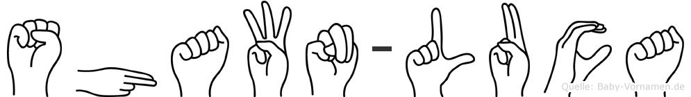 Shawn-Luca im Fingeralphabet der Deutschen Gebärdensprache
