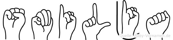 Smilja in Fingersprache für Gehörlose