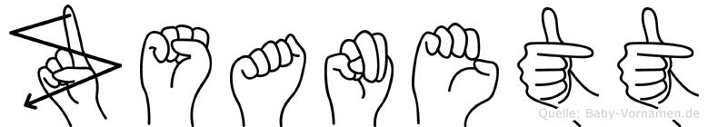Zsanett in Fingersprache für Gehörlose