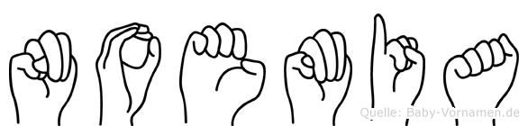 Noemia in Fingersprache für Gehörlose