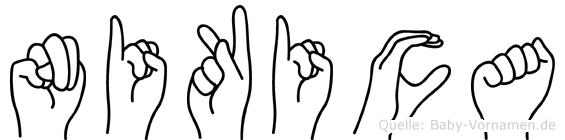 Nikica in Fingersprache für Gehörlose