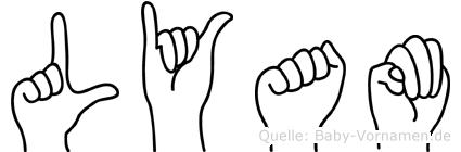Lyam in Fingersprache für Gehörlose