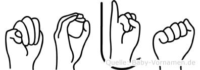 Moja in Fingersprache für Gehörlose