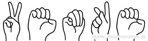 Vemke im Fingeralphabet der Deutschen Gebärdensprache