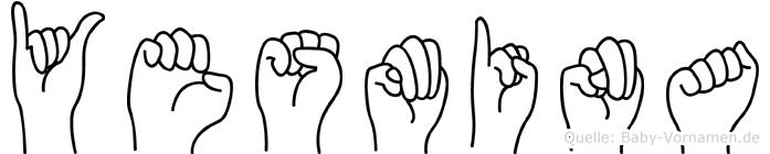 Yesmina im Fingeralphabet der Deutschen Gebärdensprache