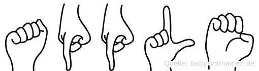 Apple in Fingersprache für Gehörlose