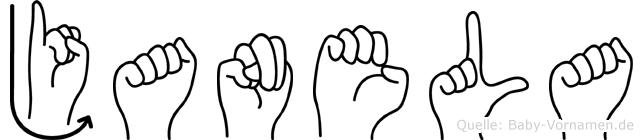 Janela im Fingeralphabet der Deutschen Gebärdensprache