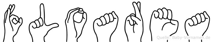 Floarea im Fingeralphabet der Deutschen Gebärdensprache