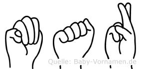 Mar in Fingersprache für Gehörlose