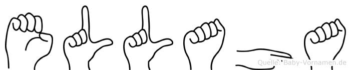 Ellaha im Fingeralphabet der Deutschen Gebärdensprache