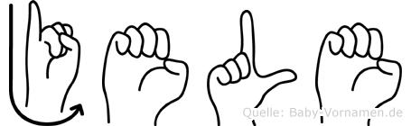 Jele im Fingeralphabet der Deutschen Gebärdensprache