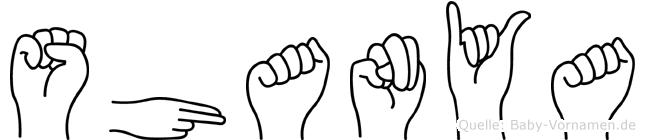 Shanya in Fingersprache für Gehörlose