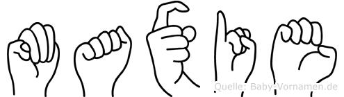 Maxie in Fingersprache für Gehörlose