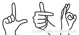 Lütfü im Fingeralphabet der Deutschen Gebärdensprache