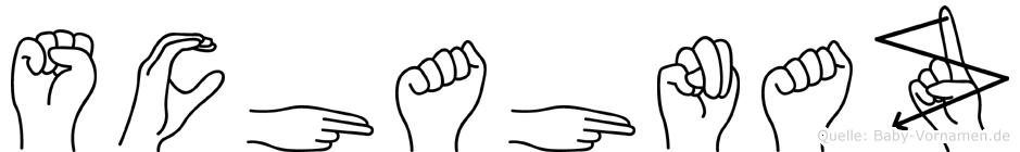 Schahnaz im Fingeralphabet der Deutschen Gebärdensprache