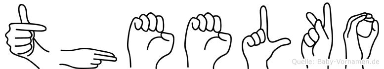 Theelko in Fingersprache für Gehörlose