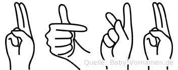 Utku in Fingersprache für Gehörlose