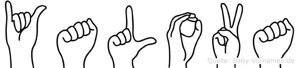 Yalova im Fingeralphabet der Deutschen Gebärdensprache