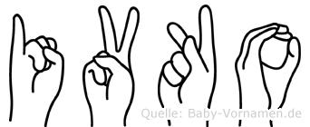 Ivko in Fingersprache für Gehörlose