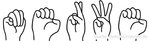 Merwe im Fingeralphabet der Deutschen Gebärdensprache