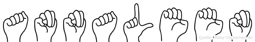 Annaleen im Fingeralphabet der Deutschen Gebärdensprache