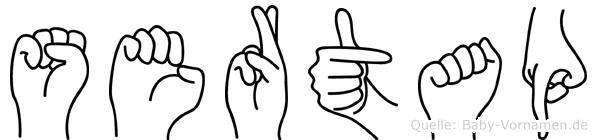 Sertap im Fingeralphabet der Deutschen Gebärdensprache