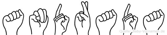 Andrada im Fingeralphabet der Deutschen Gebärdensprache