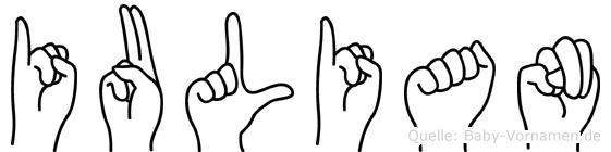 Iulian in Fingersprache für Gehörlose