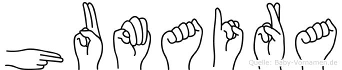 Humaira in Fingersprache für Gehörlose