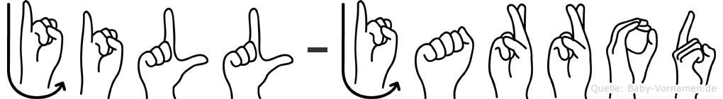 Jill-Jarrod im Fingeralphabet der Deutschen Gebärdensprache