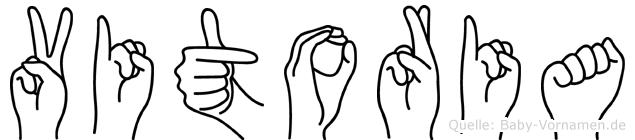 Vitoria im Fingeralphabet der Deutschen Gebärdensprache