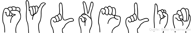 Sylvelin im Fingeralphabet der Deutschen Gebärdensprache