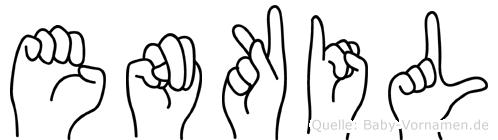 Enkil in Fingersprache für Gehörlose