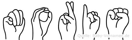 Moris in Fingersprache für Gehörlose