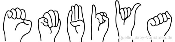Embiya in Fingersprache für Gehörlose