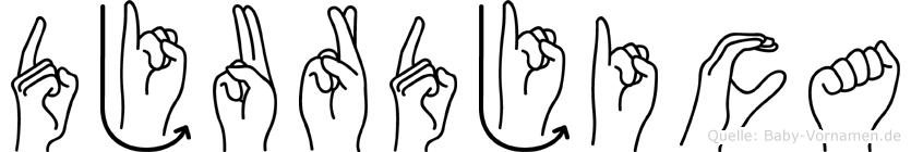 Djurdjica in Fingersprache für Gehörlose