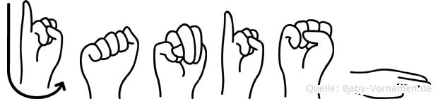 Janish im Fingeralphabet der Deutschen Gebärdensprache