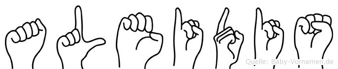 Aleidis in Fingersprache für Gehörlose