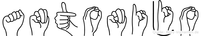 Antonijo in Fingersprache für Gehörlose