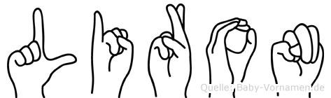 Liron im Fingeralphabet der Deutschen Gebärdensprache