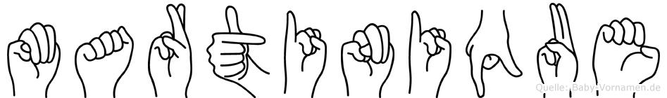 Martinique in Fingersprache für Gehörlose