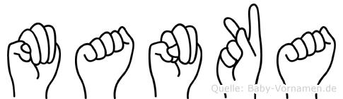 Manka in Fingersprache für Gehörlose