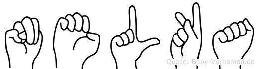 Nelka im Fingeralphabet der Deutschen Gebärdensprache