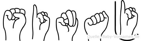 Sinaj in Fingersprache für Gehörlose