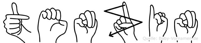 Tenzin im Fingeralphabet der Deutschen Gebärdensprache