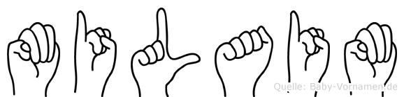 Milaim im Fingeralphabet der Deutschen Gebärdensprache