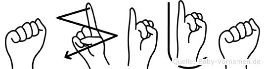 Azija in Fingersprache für Gehörlose