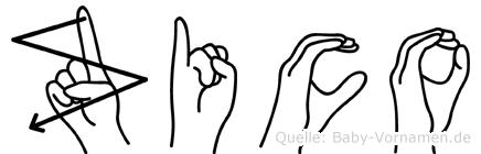 Zico in Fingersprache für Gehörlose